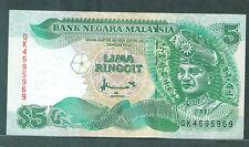 Rm 5 Ahmad Don QK 4595965 1st prefix Canadian Banknote 1998 ef