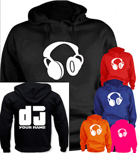 DJ Your Name personalised New Funny Present Gift Hoodie