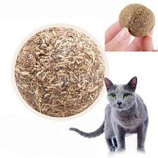 1PC Cats Kitten Pet Ball Toy Natural Catnip Funny Playing Catch Teaser Chewing