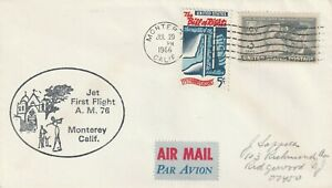 1966 USA cover Jet First Flight AM76 from Monterey CA
