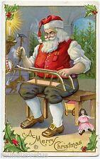 PèRE NOËL. SANTA CLAUS. FATHER CHRISTMAS. POUPéE. DOLL. JOUETS. TOYS. EMBOSSED