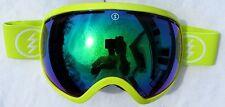 $180 Electric EG2 Mens Winter Snow Neon Yellow Goggles Green Mirror smith Lens