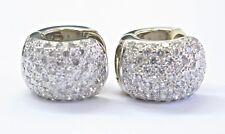 Fine Round Cut Diamond Yellow Gold Hoop Earrings 2.00CT 14KT