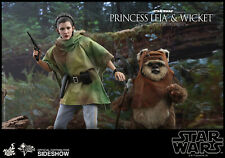 HOT TOYS Princess Leia & Wicket Star Wars 1/6 Scale Figure MINT NEW IN BOX!!!