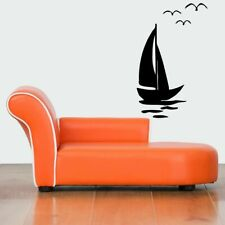 Wall Vinyl Sticker Decals Mural Design Mural Art Sailing Boat Vessel Ocean #887