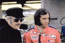 9x6 Photograph  Colin Chapman & Emerson Fittipaldi Portrait   British GP 1974