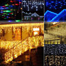 Wholesale 96 LEDs Fairy String Hanging Icicle Curtain Light Wedding Party Decor