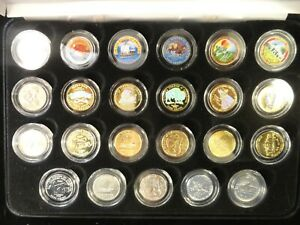 23 Collectible Nickels with Display Case - Very Unusual Set