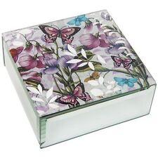 Glass Square Decorative Boxes, Jars & Tins