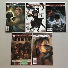 Lot of 5 Runaways (2003 1st Series Marvel) #5 8 17 18 20 NM Near Mint