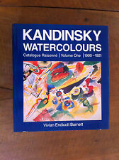 ‎BARNETT ‎- ‎KANDINSKY - Watercolors. Catalogue raisonné. Volume One. 1920-1921.