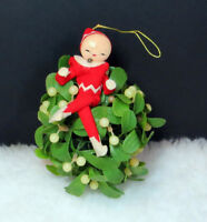 """Adorable Kitsch Vintage Christmas Ornament 7"""" Old Style Holiday Decor *65"""