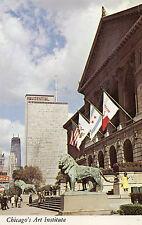 postcard USA  Illinois Chigago's art institute  unposted