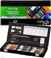 Reeves Coffret Bois Artiste Aquarelle Deluxe Reeves Acrylic Deluxe Wooden Box