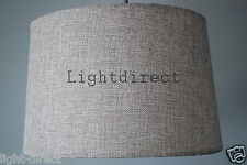 GREY LINEN EFFECT EMPIRE DRUM LAMPSHADE FOR  CEILING OR TABLE LAMP  10 INCH