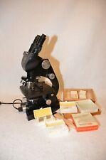 Vintage AMERICAN OPTICAL AO SPENCER Binocular Microscope with Light plus- Works!