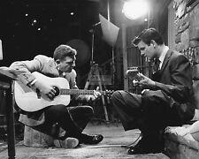 Andy Griffith & James Best Strum Guitars On Set - 8X10 Publicity Photo (Da809)