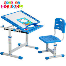 Blue Adjustable Children's Desk Chair Set Child Study Desk Kids Study Table Xlq