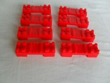 VINTAGE TOMY TRACKMASTER  SPARE RED BRIDGE TRACK RISERS  X  8
