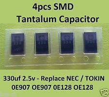 4x SMD Tantalum Capacitor 330uf 2.5v - Replace WR2R5901  & NEC/TOKIN 0E907 0E128