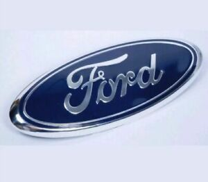 BLUE & CHROME 2005-2014 Ford F150 FRONT GRILLE/ TAILGATE 9 inch Oval Emblem 1PC