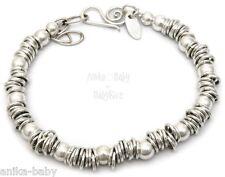 New Sterling Solid Silver 925 Sweetie Rings Beads Bracelet Handmade England UK