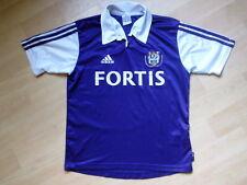 RSC anderlecht camiseta Soccer Jersey fortis adidas 164 Kids Belgium rare top!