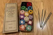 14 Balls Vintage Tatting Crochet Thread Star Jp Coats Filpour + 5 Tatting Hooks