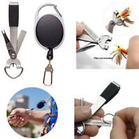 Updated Quick Knot Tool 4 in 1 Fly Fishing Clippers Line Nipper Tying +Zinger