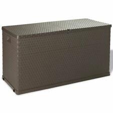 vidaXL Opslagbox voor in de Tuin 420 L Bruin Opbergbox Box Tuinkist Opbergkist