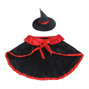Halloween Pet Cats Dog Spoof Hat Cloak Set Magician Role Playing Costume Efficie