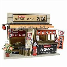 Billy Handmade Miniature Dollhouse Model Kit Naniwa Okonomiyaki Shop