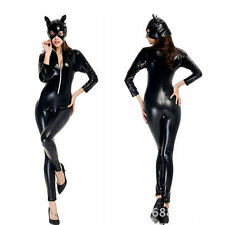 Sexy Womens Halloween Fancy Dress Catwoman Leopard Wild Costume Cat Cosplay M/L