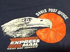 Vintage Davis Post Office T-shirt Soft Thin Express Mail Eagle Bird Service