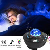 LED Starry-Star Night Light Laser-Projector 3D Ocean Wave Party Speaker Lamp