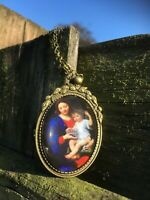 Virgin Mary and Jesus, Mary and Jesus pendant, gift for her, FREE SHIPPING