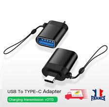 Adaptateur USB-C 3.1 mâle type C vers USB OTG 3.0 A  connecteur femelle Noir