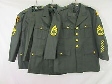 Lot of 3: Vintage Army Green Wool/Polyester Jackets -37XS/37S/40XS