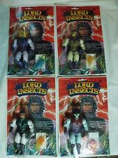 Rare 1980's Lord of the Insects figure lot on card sectaurs galaxy warriors ko