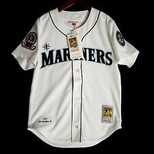100% Authentic Ken Griffey Jr Mitchell Ness 95 Mariners MLB Jersey Size 48 XL