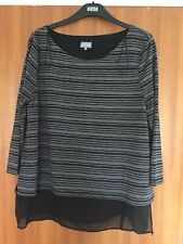 VERY GOOD CONDITION Ladies Phase Eight Black Top - Size 16