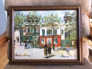 """Petit Cafe, Montmartre by Maurice Utrillo framed print 10 1/2"""" x 13 1/2"""""""