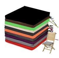 Galette Dessus de chaise Uni 38x38cm Coloris au choix