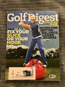 Dustin Johnson Signed Golf Digest Magazine Beckett COA