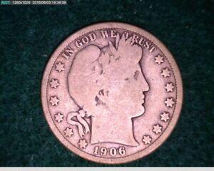 1906-D Barber Half Dollar ( 13-167 6M/o )