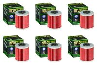 Suzuki RMZ 250 2004 - 2020 Oil Filter Set HiFlofiltro HF207 Pack of 6
