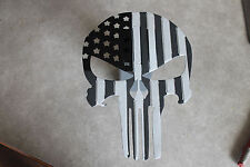 Punisher flag hitch cover black, grey, and white