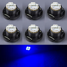 6 x Blue T5/T4.7 Neo Wedge LED Bulb SMD Cluster Instrument Dash Base Lights 12V