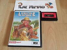 MSX LIVINGSTONE SUPONGO COMPLETO VERSION ESPAÑOLA