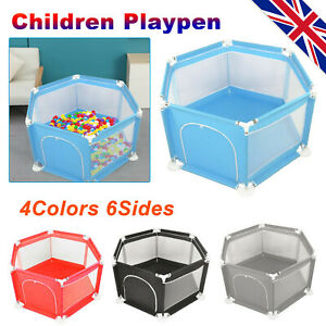 Baby Playpen 6 Sides Panels Kids Activity Center Safety Play Yard Pen 4 Color UK